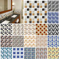 18Pcs Waterproof PVC Tile Pasters Polishing Wall Pasters For Kitchen Home Decor
