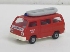 """Mitsubishi L 300 Bus in rot + Boot """"Feuerwehr Notruf 112"""", o. OVP, Rietze, 1:87"""