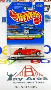 Hot Wheels 1999 Treasure Hunt Mercedes 540 K w/5 Spoke Wheels Red VHTF Classic