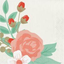 "Elise Modern Floral 3 Ply Lunch Napkins 16 Pack 6.5"" x 6.5"" Floral Decoration"