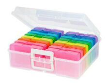 """Rainbow Photo and Craft Storage Case Keeper OR Extra 5x7 Cases or """"Refills"""" NEW"""
