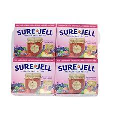 4 Boxes Sure-Jell Premium Fruit Pectin Less No Sugar 1.75 oz Each Exp 6/22 Jams