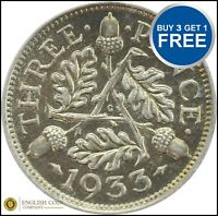 1920 TO 1936 GEORGE VI SILVER THREE PENCES 3D CHOICE OF YEAR / DATE