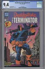 Deathstroke The Terminator #1 CGC 9.4 Mike Zeck classic cover Slade Wilson DC