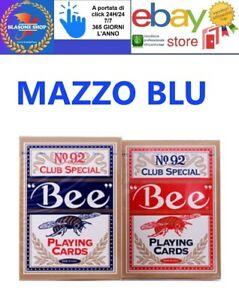 Carte da Gioco Bee Club Special 92 Poker Standard Mazzo Blu 🤩🤩