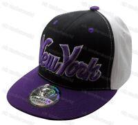 Mens Ladies New York Snapback Baseball Cap Ny State Retro Hip Hop Adults Hat