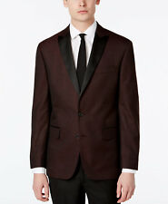 $750 RYAN SEACREST Mens Slim Fit Tuxedo Suit Jacket Red SPORT COAT BLAZER 36S