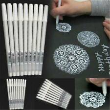 3Pcs 0.8mm White Ink Color Photo Album Gel Marker Pens Stationery Office Supply