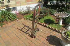 Vintage Industrial Fairbanks Oak & Metal Hand Cart #S165