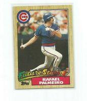 RAFAEL PALMEIRO (Chicago Cubs) 1987 TOPPS ROOKIE CARD #634