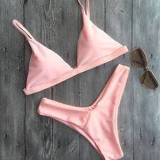 2017 Brazilian Bra Bikini Padded Swimwear Bathing Pink Swimsuit Thong Bandage