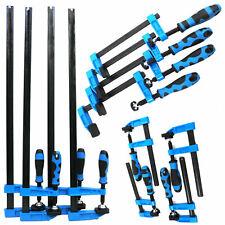 "Blue Handled 12pc F Clamp Bar Clamp 4X 6"", 4X 12"" & 4 x 24""Long Quick Slide Wood"