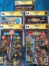 DC versus Marvel #1, 2, 3, 4 + set - CGC SS 9.8 9.4 - Signed by Jurgens, Marz