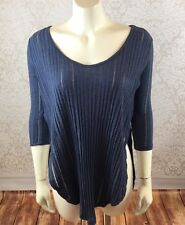 Free People We The Free Sz XS Astoria Split Ribbed Knit Hacci Tee Top NWT $78