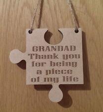 Piece Of My Life Jigsaw Piece Laser Engraved Thank You Keepsake  Gift Grandad