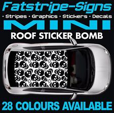 TETTO Mini STICKER BOMB grafica Adesivi Decalcomanie Uno Cooper S R50 R56 F56 JCW 1.6