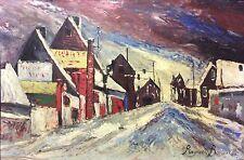 Grand Paysage du nord suiveur de Vlaminck Fauvisme Fauve 82,5 cm Raymond Boussac