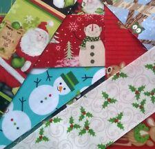 Paquete de restos de tela Navidad restos Quilting Patchwork paquetes de mezcla de algodón 100%