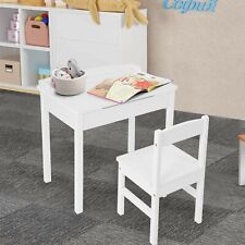 Kids Table And Chair Set Children Learning Study Desk With Storage For Read