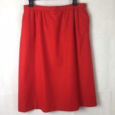 "Vintage Pendleton Pencil Skirt 16 Red 100% Virgin Wool 27"" Long"