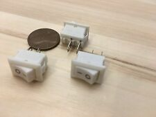 3 Pieces small mini 10mm x 15mm On/Off Rocker Switch 3a 2 Pin 12V 110V 250V C23