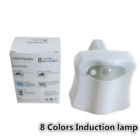 8 Colors USB Rechargeable LED Night Light Hanging Toilet Induction Liggift  Top