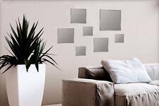 Specchi decorativi quadrati da parete 7 pezzi fissaggio adesivo specchio casa