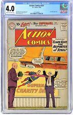 A0810. ACTION COMICS #257 by DC Comics CGC 4.0 VG (1959) LEX LUTHOR App.