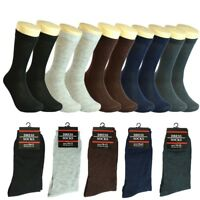 3-12 pairs Men Multi-Color Solid Cotton Fashion Casual Dress Socks 10-13