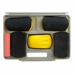 Fast Mover FMT5517 HookNLoop 6x Curved Sanding Block Kit Bodyshop Abrasive