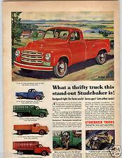 1950 PAPER AD Truck Studebaker Pick-Up Platform Stake Grain Stack Rack Farm
