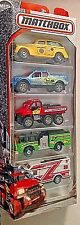 MATCHBOX 2017 HEROIC FIRE VEHICLES 5 PACK INCLUDING MBX COUNTY '39 PIERCE PANEL