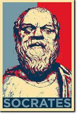 SOCRATES ART PHOTO PRINT (OBAMA HOPE PARODY) POSTER GIFT GREEK PHILOSOPHY