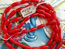 50 Vintage Cherry Brand, Miriam Haskell Glass Beads 3x9mm, Japan Rice Beads, #B3