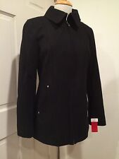 Nautica Stylish Wool Blend Coat Peacoat Trench Zipper Black M NWT