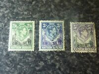 NORTHERN RHODESIA POSTAGE STAMPS SG41-43 VERY FINE-USED