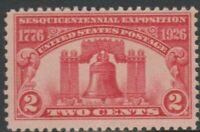 Scott# 627 - 1926 Commemoratives - 2 cents Liberty Bell Single