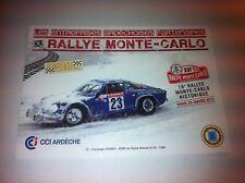CP POSTCARD CARTOLINA RENAULT ALPINE CHIANEA RALLY RALLYE MONTE CARLO 2013