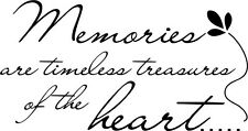 MEMORIES ARE TIMELESS  Wall Art Decal Quote Words Lettering Decor  DIY