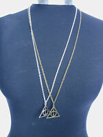 """Harry Potter The Deathly Hallows Charm Pendant with  Long 30"""" Chain Necklace"""