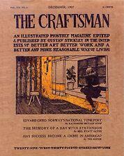 183 CRAFTSMAN MAGAZINES  1901-1916  Gustav Stickley homes HOUSE PLANS furniture