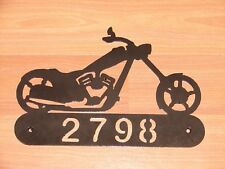 CHOPPER  METAL HOME ADDRESS SIGN ART WALL DECOR HOUSE
