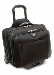 Wenger Potomac Rolling Case Blk Up To 17IN Laptop with day Case