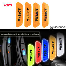 4pc Super Yellow Car Auto Door Open Sticker Reflective Tape Safety Warning Decal
