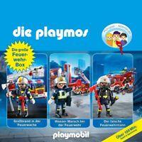DIE PLAYMOS - DIE GROßE FEUERWEHR-BOX 3 HÖRSPIEL ABENTEUER 3 CD NEU