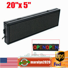 20x 5 Led Sign Full Color Programmable Scrolling Message Board Display Outdoor
