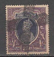 India King George VI Used Rs 25 Stamp Top Value! S.G.Cat £45