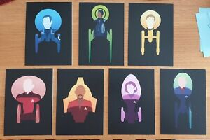 Star Trek Postcard set 7 exclusive postcards of captains and starships