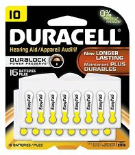 Duracell  Easy Tab Hearing Aid Zinc Air Battery, #10 Size, 16/pack