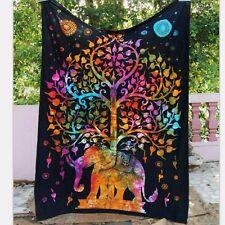 Wall Hanging Hippie Mandala Tapestry Dorm Decor Bedspread Elephant Tree